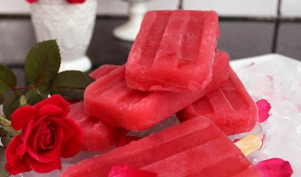 Raspberry and Rosewater Ice-Pops