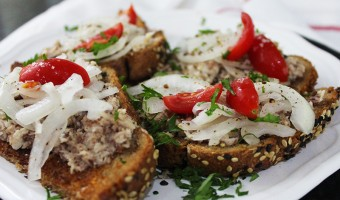 Sardines and Onions on Toast
