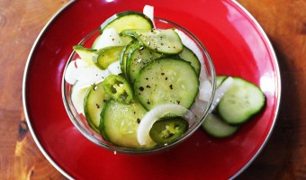 Spicy Cucumber and Sweet Onion Salad