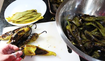 Roasted Hatch Green Chili Peppers and Memories from a Road Trip