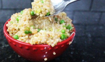 Cheesy Couscous and Peas