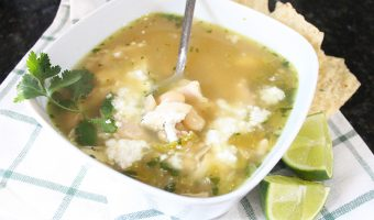 Roasted Hatch Green Chili, Chicken and White Bean Soup